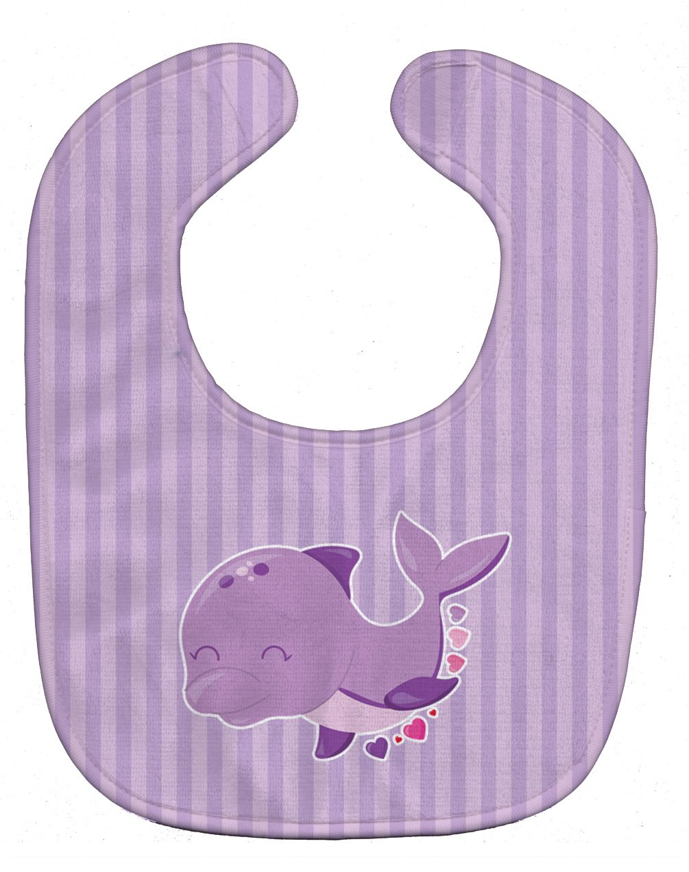 Caroline's Treasures BB7132BIB Purple Dolphin Baby Bib, 10 x 13