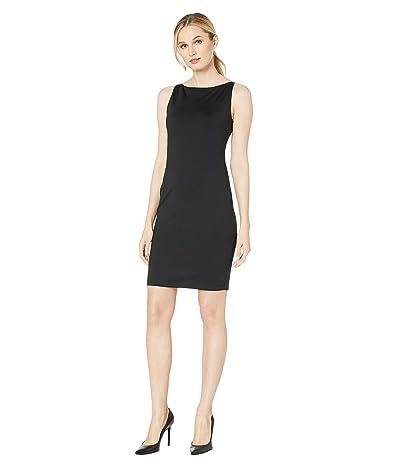 Susana Monaco Sleeveless Wide Neck Dress (Black) Women