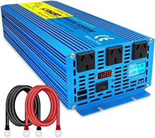 Cantonape 3000W/6000W(Peak) Pure Sine Wave Power Inverter DC 12V to 240V AC with LCD Display for Car Boat RV Solar Power