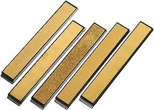 TuToy Titanium gecoate diamanten messenslijper 80-2000 Grit Hoek slijpsteen Whetstone Bar met basis - 80#
