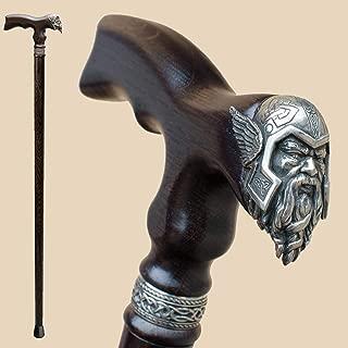 Viking Walking Cane for Men Fashionable - Handmade Fancy Men's Wooden Canes - Thor - Stylish Walking Sticks