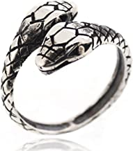 SOVATS Snake Adjustable Gothic Punk Rock Retro Style Ring for Women 925 Sterling Silver Oxizidize Surface - Simple, Stylish &Trendy Nickel Free Ring