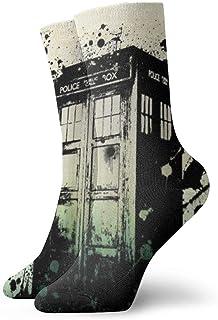 eneric, Calcetines de Doctor Who, divertidos, informales, unisex, para adultos y niños, con estampado de anime, para niños y niños, para niños pequeños, acogedores, calcetines acolchados frescos de 90