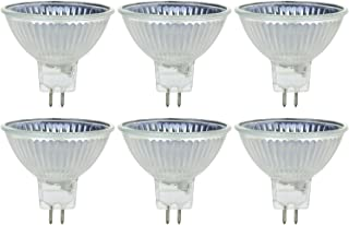 Sunlite Series 50MR16/CG/FL/24V/6PK Halogen 50W 24V MR16 Flood Light Bulbs, 3200K Bright White, GU5.3 Base, 6 Pack