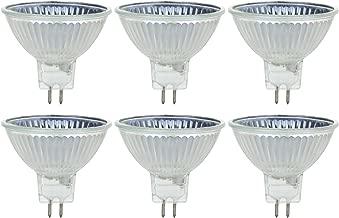 Sunlite Series 50MR16/CG/FL/24V/6PK Halogen 50W 24V MR16 Flood Light Bulbs, 3200K Bright White, GU5.3 Base, 6 Pack