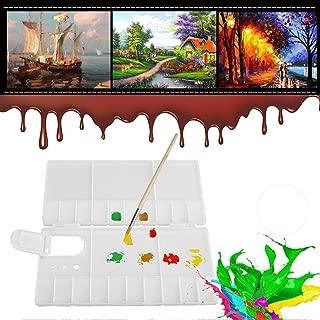 Large Folding Palette Box, Foldable 24 Grids Artist Square Plastic Palette Paint Tray Watercolor Box Oil Painting Tool