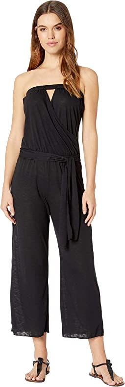 Breezy Basics Cropped Jumpsuit Cover-Up