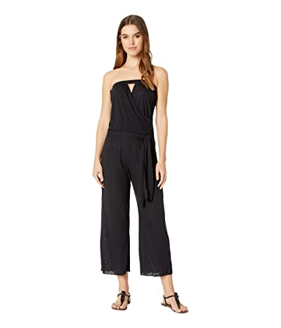 BECCA by Rebecca Virtue Breezy Basics Cropped Jumpsuit Cover-Up (Black) Women