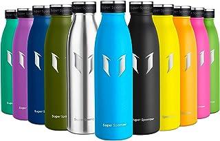 Super Sparrow Botella de Agua Acero Inoxidable- 350ml/500ml/750ml - sin BPA - islamiento de Vacío de Doble Pared, Botellas Frío/Caliente, Reutilizable para Niños, Colegio, Sport, Gimnasio, Bicicleta