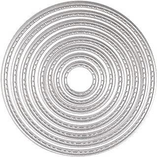 KUUQA Cutting Dies Stencil Metal Template Mould - Circles(8 pcs)