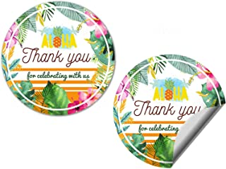 Watercolor Luau Party Thank You Sticker Labels, 40 2