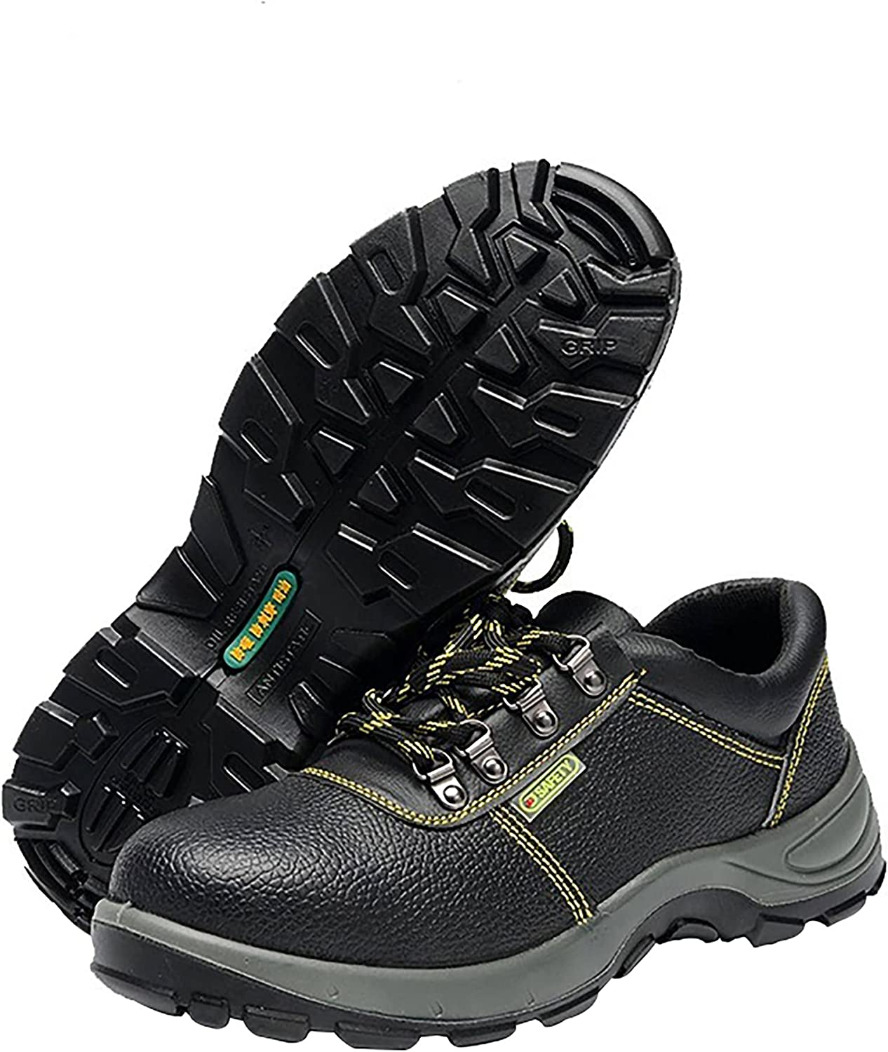 NC Waterproof Steel Toe Shoes for Men Lightweight Safety Sneakers Breathable Work Shoe Puncture Proof Safety Shoes with A Pair of Insoles and Black Shoelaces