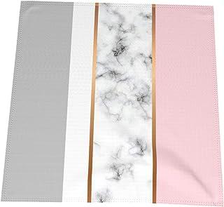 lavabili e riutilizzabili feste Set di 6 tovaglioli di stoffa a righe con bordi orlati per casa Naanle matrimoni in legno arcobaleno vacanze grandi dimensioni 50,8 x 50,8 cm
