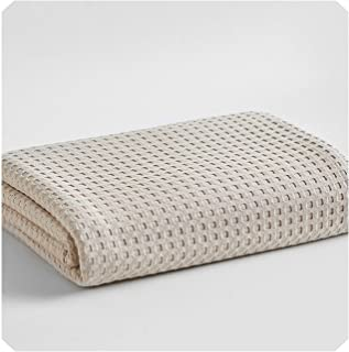 SuWuan Blankets Summer Thin Towel Solid Color Honeycomb Towel Cotton Absorbent Air Conditioning Blanket,3,150x200cm
