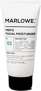 MARLOWE. No. 123 Men's Facial Moisturizer 6 oz | Lightweight Daily Face Lotion for Men | Best for Dry or Oily Skin | Inclu...