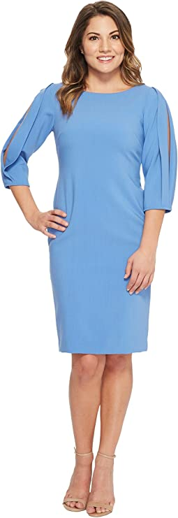 Petite Slit Sleeve Sheath Dress