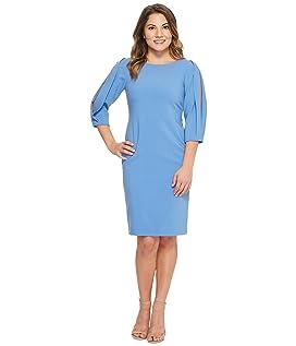 Petite Slit Sleeve Sheath Dress