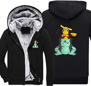 GXY Sweats À Capuche Pour Hommes - Pokémon Print Sweatshirts Vestes À Manches Longues À Manches Longues Capuche À Capuche ...