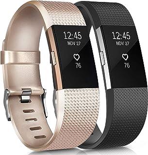 obfit Fitbit Charge 2 Correa Adjustable Sport pulsera de Reemplazo Banda de Accessories Correa de deportes Para Fitbit Charge 2 Wristband Fitness