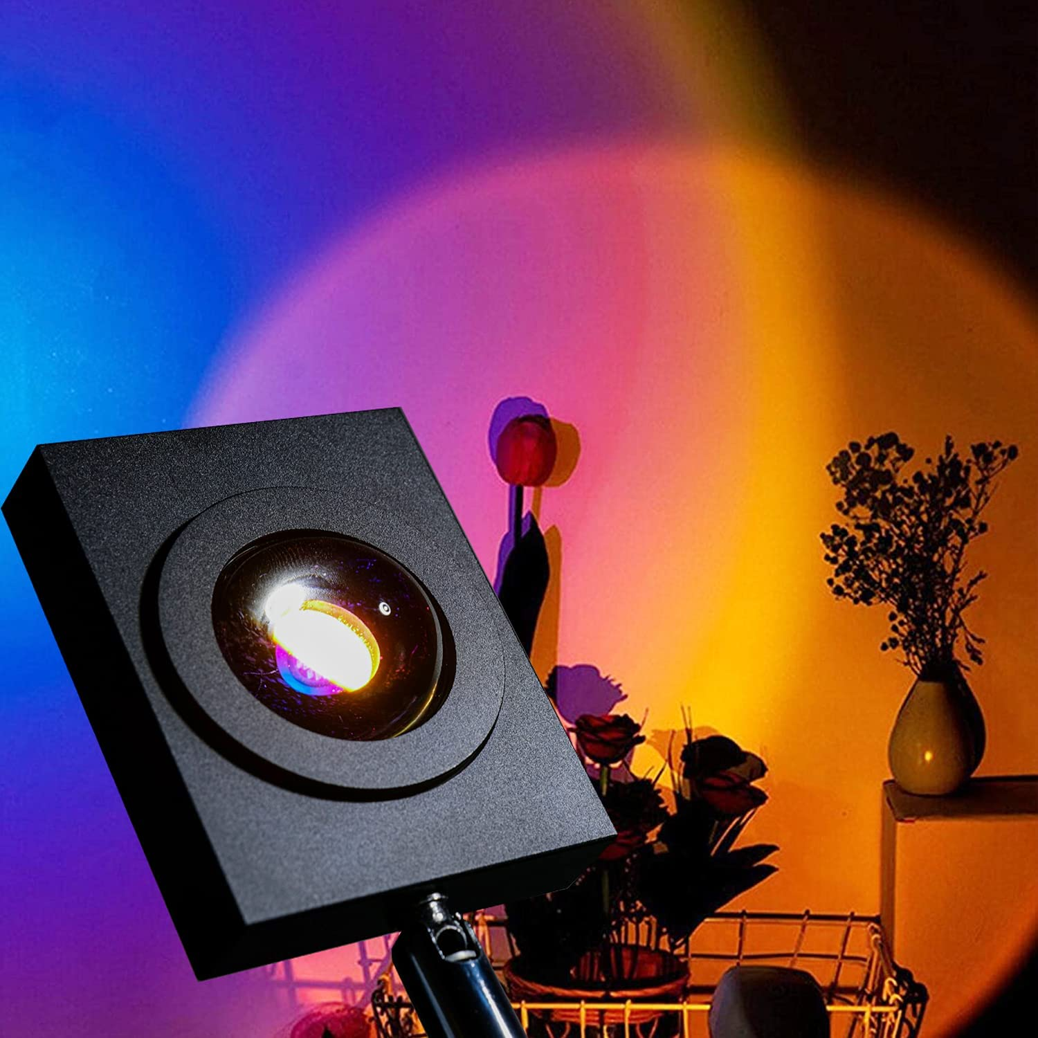 Sunset Projection Floor Lamp 15W Stand Corner Sales of SALE items from new works National products Rainbow Tall