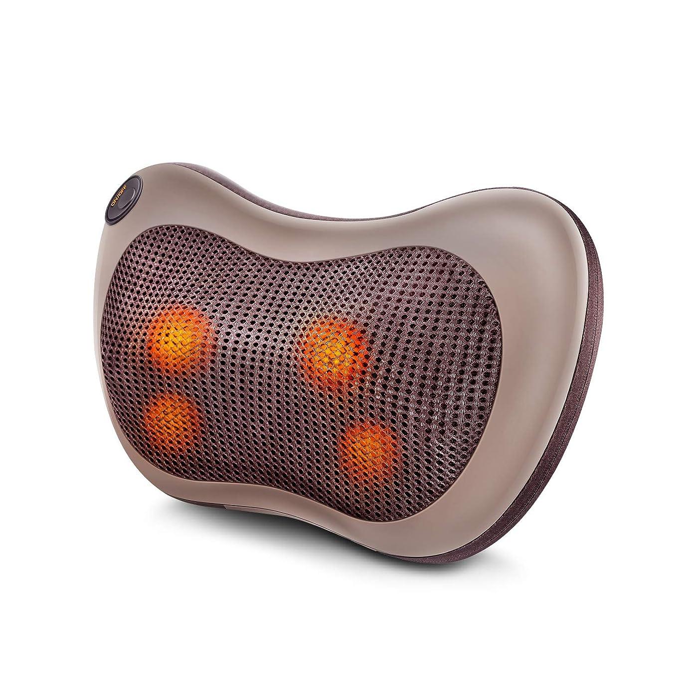 過度の物理的につかいますマッサージ枕 マッサージ機 首マッサージ マッサージピロー マッサージクッション 自宅 オフィス 車載マッサージャー 加熱 3モード調節可能 過熱防止 日本語説明書付き