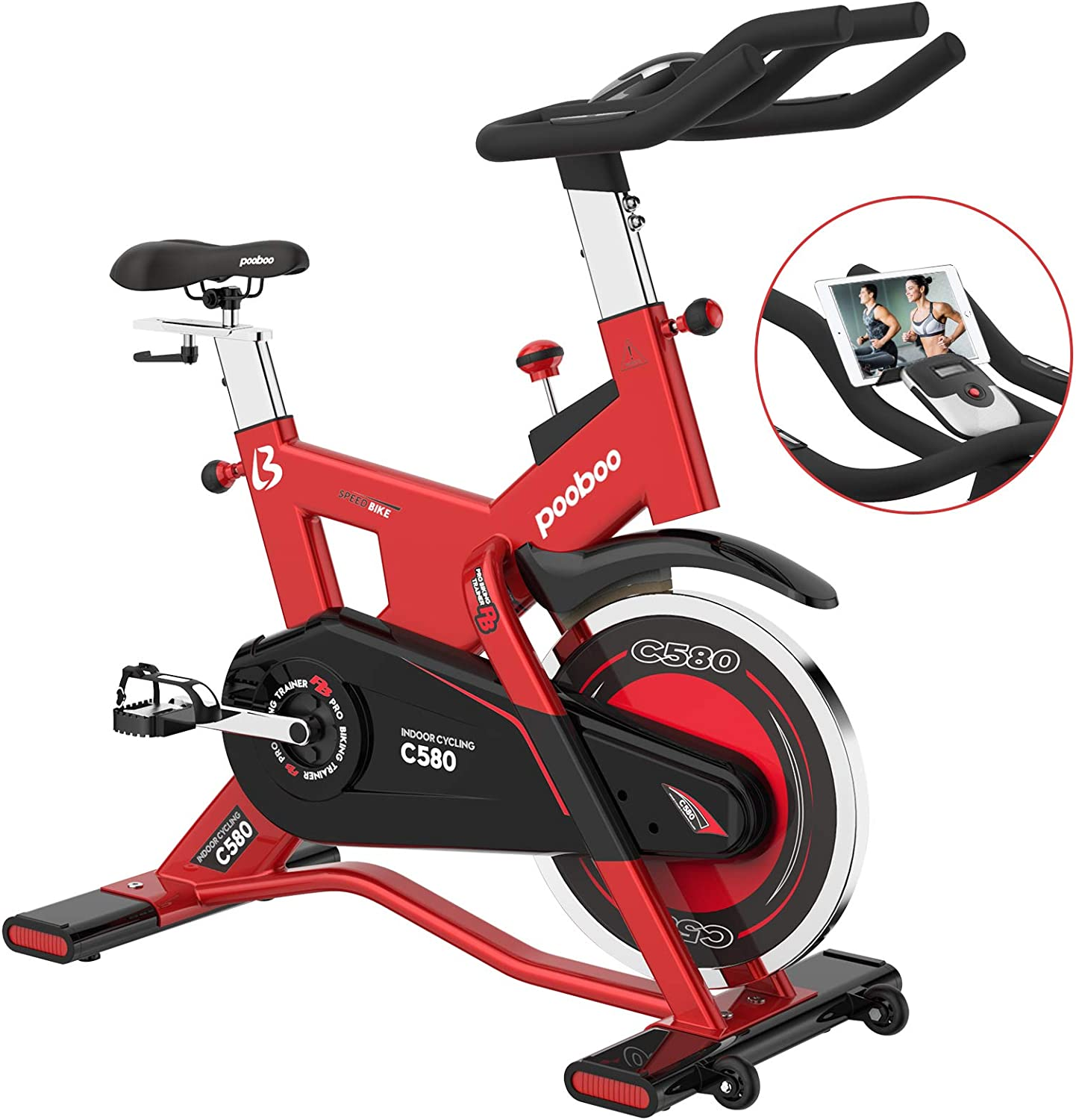cycool 35% OFF Stationary Exercise Bikes Indoor Cycling 40 Inexpensive lbs Flyw with