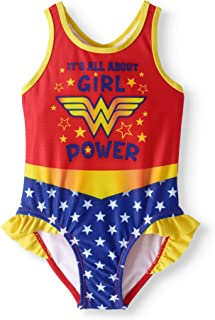 05b930c8261ba DC Comics Wonder Woman It's All About Girl Power Toddler Girls Swimsuit