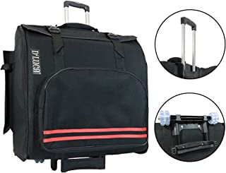 D'Luca Pro Series Gig Bag for 96/120 Bass Piano Accordions with Wheels, Black (DAG-96/120-WHEEL-BK)