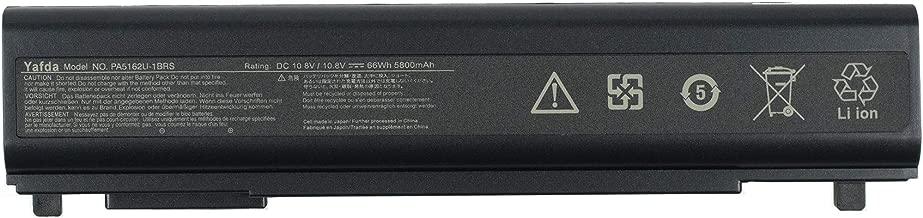 Yafda PA5162U-1BRS 10.8V66WH /5800mAh New Laptop Battery for Toshiba Portege R30 Portege R30-A Portege R30-A1310 PortegeR30-AK01B PABAS277 PABAS278 PABAS280 PA5161U-1BRS PA5163U-1BRS PA5174U-1BRS