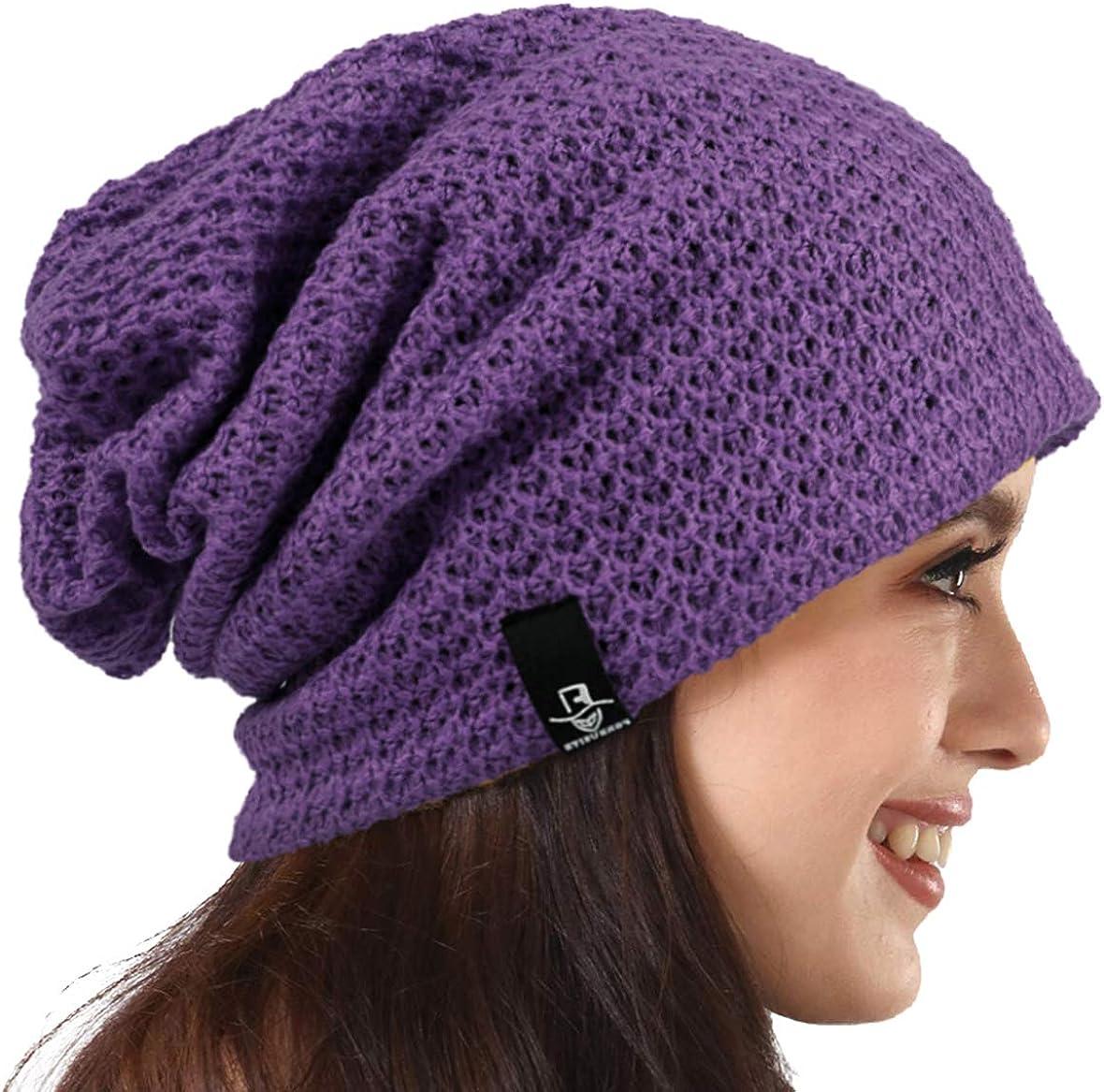 PGTen Women's Knit Slouchy Beanie Baggy Skull Cap Turban Winter Summer Beret Hat ¡