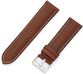 Hadley-Roma Men's Shrunken Grain Leather Watch Strap - 18mm, 20mm, 22mm (MS790)