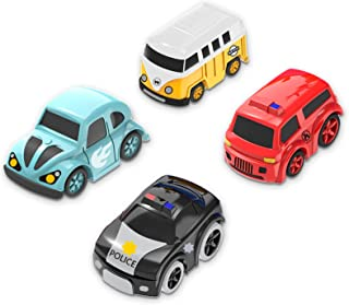 Mini Cars for Adventure Race Tracks Toys for 3 4 5 6 7 Year Old Boys, Boys Toys City Rescue Accessory Mini Cars with Assorted Models for Certain Tracks Toys T801, Gifts for Boys Girls Age 3 4 5 6