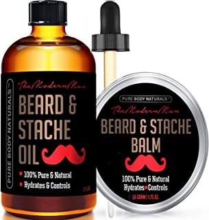 brush And Comb Kit For Men-beard Care Gift Set With Organic Ingredients Mustache Moisturizing Wax Set 3 Pcs Beard Oil balm