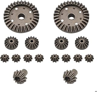 SHENYI Transmission Gear A959 A959-B RC Car Spare Parts Upgraded Metal Original Differential Gear Reduction Gear Motor Gear Differential Box Set (Color : 18023)