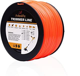 Anleolife 3-Pound Commercial Square .095-Inch-by-780-ft String Trimmer Line in Spool, with Bonus Line Cutter, Orange