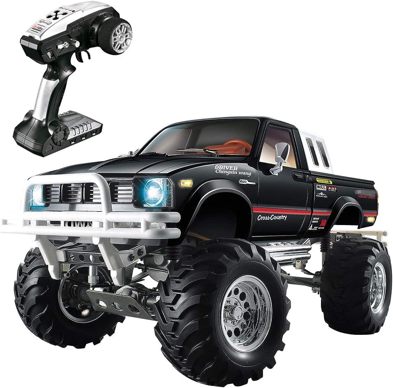 Bht HG 1 10 4WD RC LKW, 3-Gang RC Rock Crawler Gelndewagen 4x4 Elektro RC RTR Hobby Gelndewagen mit 2,4 GHz Radio (schwarz)