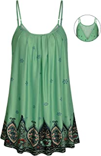 Viracy Women's Pleated Camisole Sexy V Backless Summer Cami Tank Tops