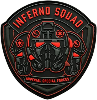 3D-PVC Rubber-3.5 X 2.5 inch -BP4 Inferno Squad Dead Card Tactical Patch