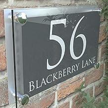 Be-Creative Modern Huis Nummer Sign Adres Deur Plaque Eigenschap Naam Plaque ParA4-28WA