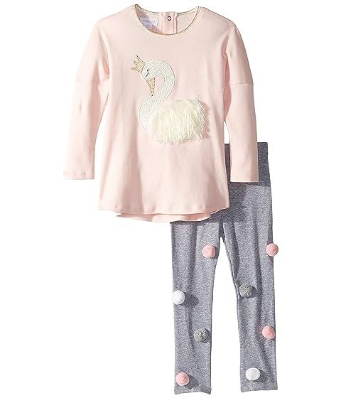 e865f21cff3187 Mud Pie Swan Long Sleeve Tunic & Legging Two-Piece Set (Infant ...