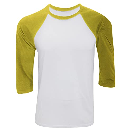 e89c10e9 Bella And Canvas Mens Tri-Blend 3/4 Sleeve Baseball T-Shirt