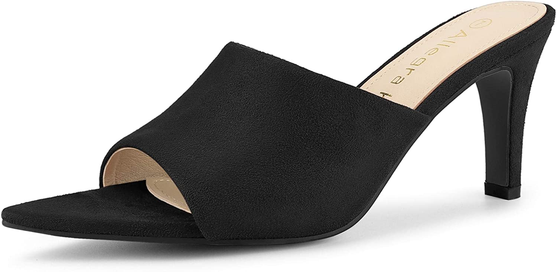 Allegra K Women's Pointed Toe Sandals Heels Same day shipping Slide Stiletto Max 79% OFF