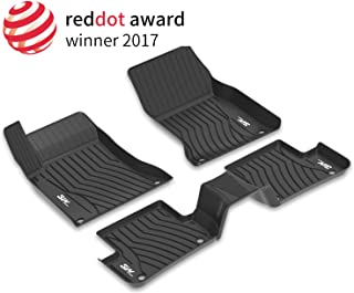 3W Floor Mats Compatible for Benz GLE (2020-2021),TPE All Weather Custom Fit Floor Liner For Benz GLE,1st & 2nd Row Full Set Car Mats, Black