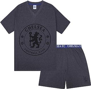 Chelsea FC Mens Pyjamas Short Loungewear Official Football Gift