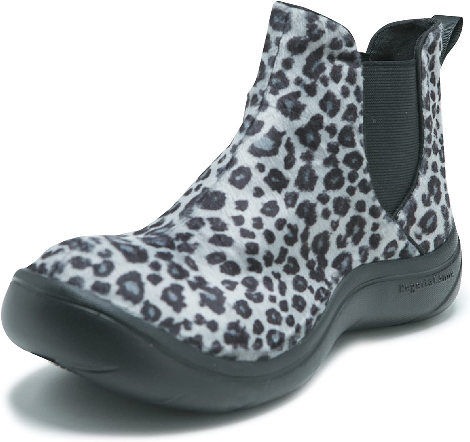 RegettaCanoe SAFARI  Handcrafted Vegan Leather Pull Up Leopard Boots for Women