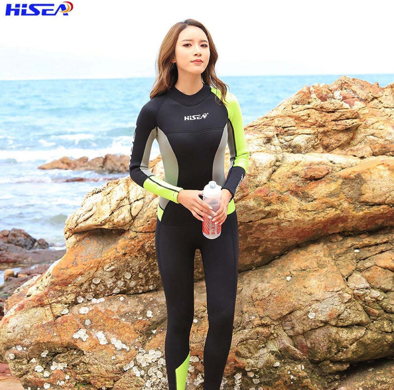 Shutian 3mm Siamese Diving Suit Women's Long Sleeve Diving Swimsuit Warm Sunscreen Surfing Snorkeling Suit