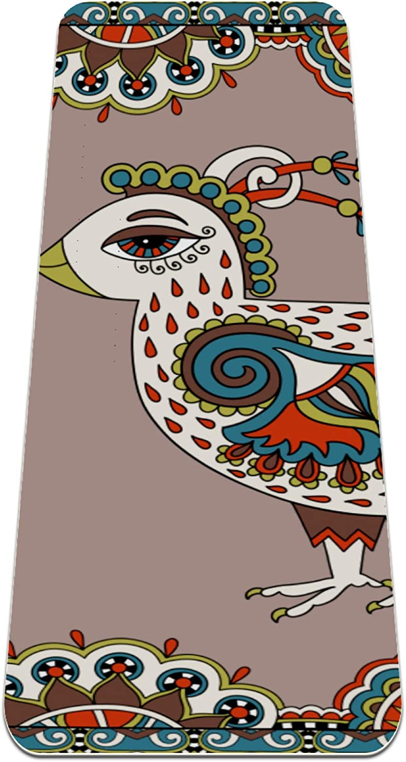 Yoga Mat Non Slip TPE OFFer Retro Special price for a limited time Density cartoon chicken High Padding