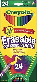 Crayola Erasable Colored Pencils, 24 Count