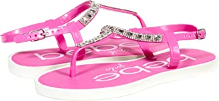 Girls Rhinestone Strap Slingback Thong Flats (See More Colors and Sizes)