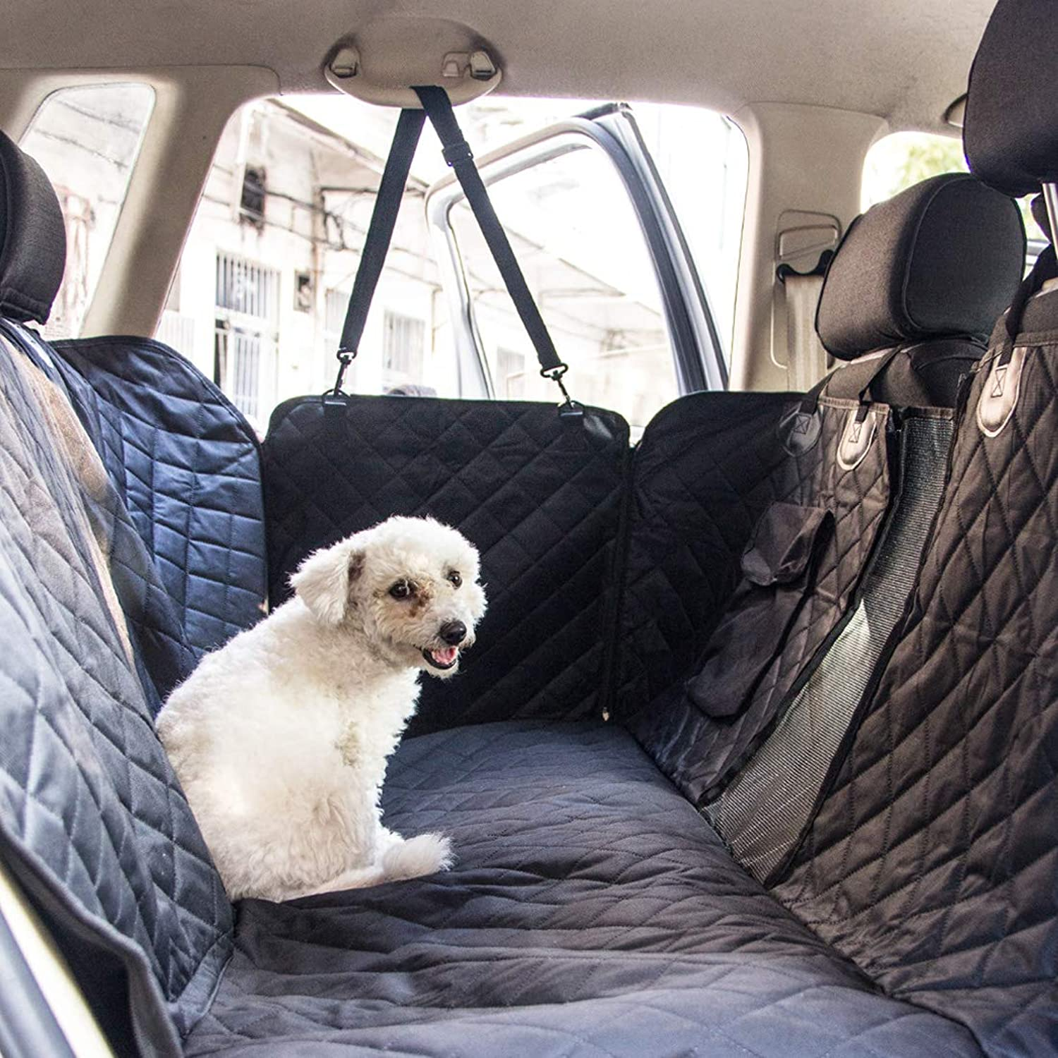 Rorian Dog Seat Cover Car Seat Cover for Pets Pet Seat Cover Hammock 600D Heavy Duty Scratch Proof Nonslip Durable Soft Pet Back Seat Covers for Cars Trucks and SUVs (Regular)